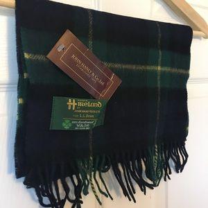 LL Bean plaid Irish scarf